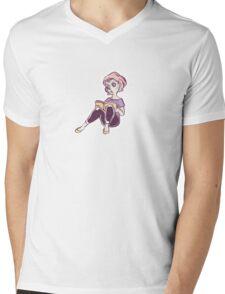 Bookworm Mens V-Neck T-Shirt