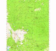 USGS Topo Map Oregon Broken Top 282279 1959 62500 by wetdryvac