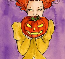 Getting Ready for Halloween by Rebecca Lesny