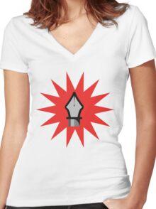Pen tool! Women's Fitted V-Neck T-Shirt