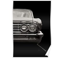 Classic Car (black and white) Poster