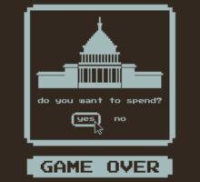 GAME OVER - 8-bit Spending Game by snotdrive