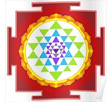 Sri Yantra Mandala for Meditation Poster