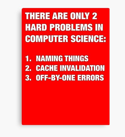 Only 2 hard problems in computer science Canvas Print