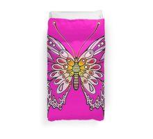 Original Butterfly Design Pink Yellow Duvet Cover