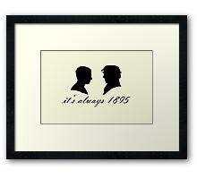 Sherlock and John Silhouettes Framed Print