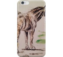 Pen and ink  horse iPhone Case/Skin