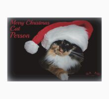 Merry Christmas Cat Person One Piece - Short Sleeve