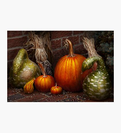 Autumn - Gourd - Family get together Photographic Print