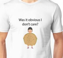 Gene Belcher Don't Care Bobs Burgers Quote Unisex T-Shirt