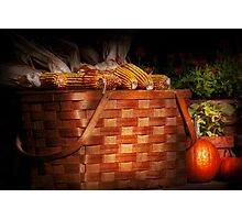 Autumn - Gourd - Fresh corn Photographic Print