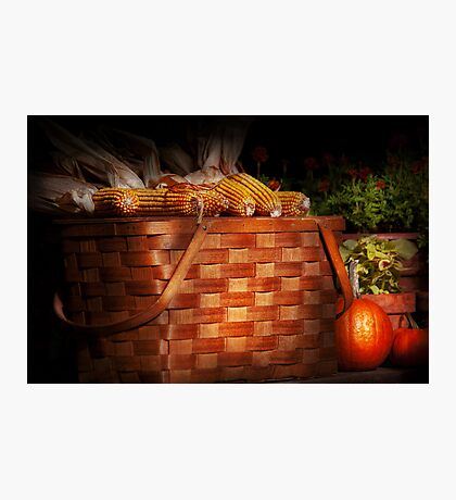Autumn - Gourd - Fresh corn Photographic Print