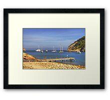 The Rickety Pier Framed Print
