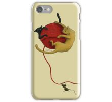 Cute Cats and Mouse Design Illustration iPhone Case/Skin