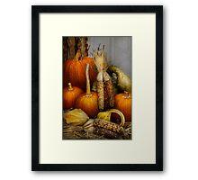 Autumn - Gourd - Pumpkins and Maize  Framed Print