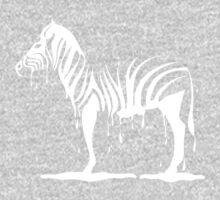 zebra melting on black One Piece - Long Sleeve