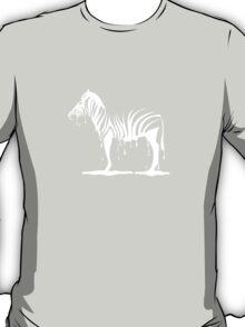 zebra melting on black T-Shirt