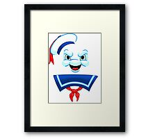 Mr. Marshmallow Destruction Framed Print