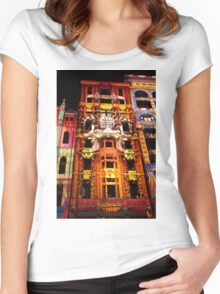 0337 Melbourne - White Night 11 Women's Fitted Scoop T-Shirt