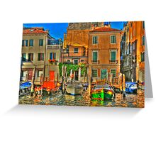 Venice Boats Greeting Card