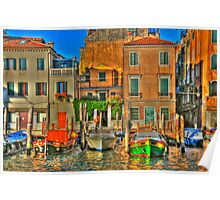 Venice Boats Poster