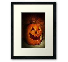 Autumn - Halloween - Jack-o-Lantern  Framed Print