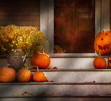 Autumn - Halloween - We're all happy to see you by Mike  Savad