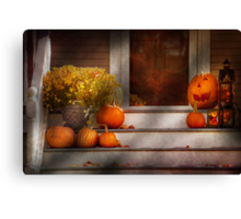 Autumn - Halloween - We're all happy to see you Canvas Print