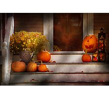 Autumn - Halloween - We're all happy to see you Photographic Print