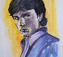Portraits of Tom Welling, Clark Kent of Smallville, featured in Painters universe group by FDugourdCaput