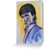 Portraits of Tom Welling, Clark Kent of Smallville, featured in Painters universe group Greeting Card