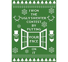 Unique ugly christmas sweater design. Photographic Print