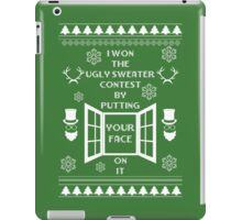 Unique ugly christmas sweater design. iPad Case/Skin