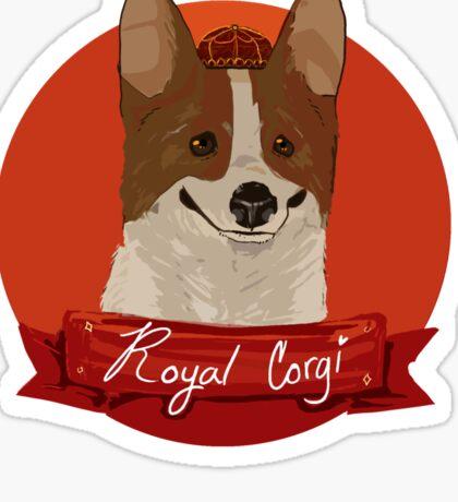 Royal Corgi Sticker