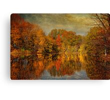 Autumn - Landscape - Tamaques Park - Autumn in Westfield New Jersey  Canvas Print