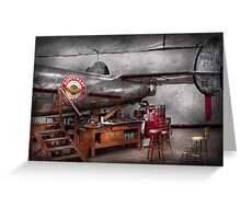 Airplane - The repair hanger  Greeting Card