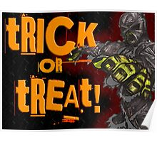 Mummy Trick or Treat Card Poster
