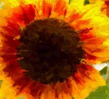 Painted Sunflower Sticker