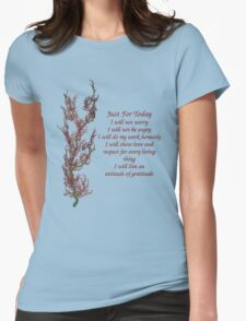 Just For Today Inspirational Quote Flowering Tree T-Shirt