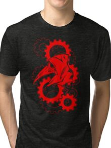 Plague Doctor Gears- Red Variant Tri-blend T-Shirt