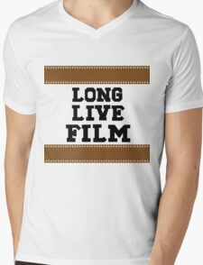 Long Live Film Mens V-Neck T-Shirt