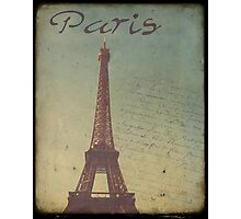 Sweet Eiffel Tower 1 Photographic Print
