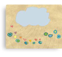 Whimsical Cloud Art Canvas Print