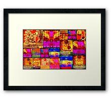 Golden SUN Quilt Framed Print