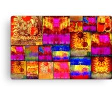 Golden SUN Quilt Canvas Print