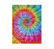 Who's got munchies? [Tie Dye] Art Print