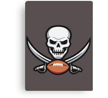 Football Skull Canvas Print