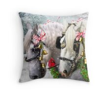Jingle Horse Throw Pillow
