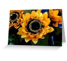 Triple Threat To Catch The Eye Greeting Card