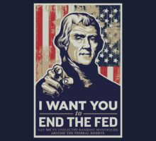 Thomas Jefferson End the Fed One Piece - Short Sleeve